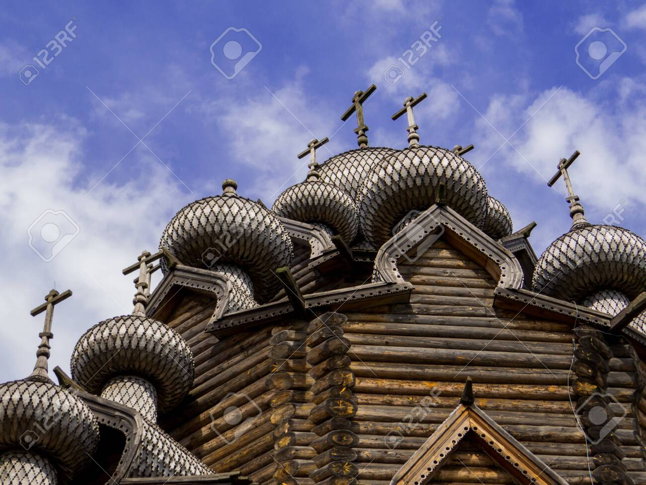 View of the wooden Church of the Intercession of the Holy Virgin in St. Petersburg, Russia - 151391751
