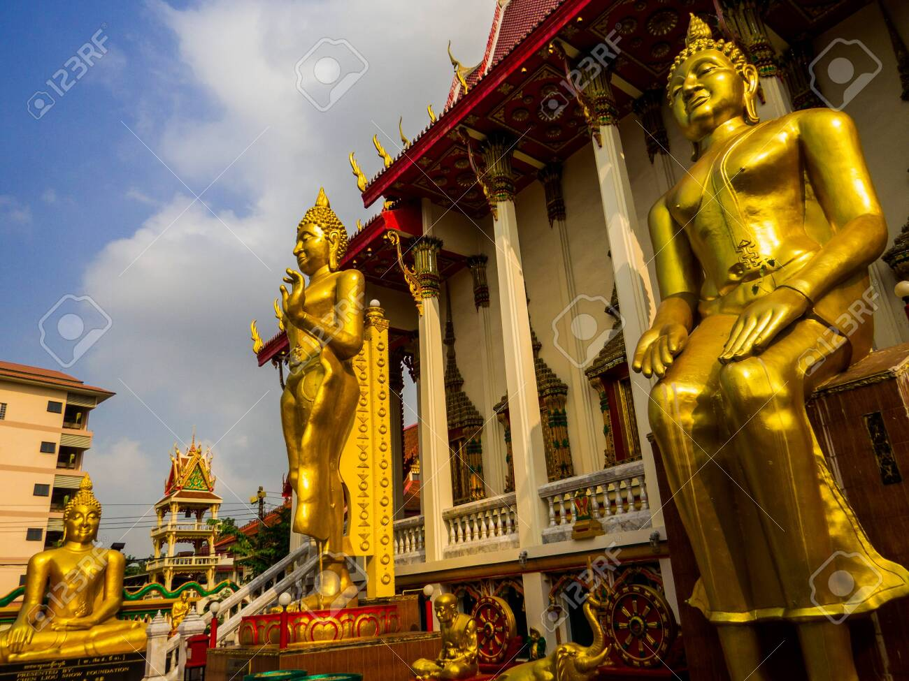 Bangkok, Thailand - January 16, 2020: View of the Wat Sitaram. - 151449101