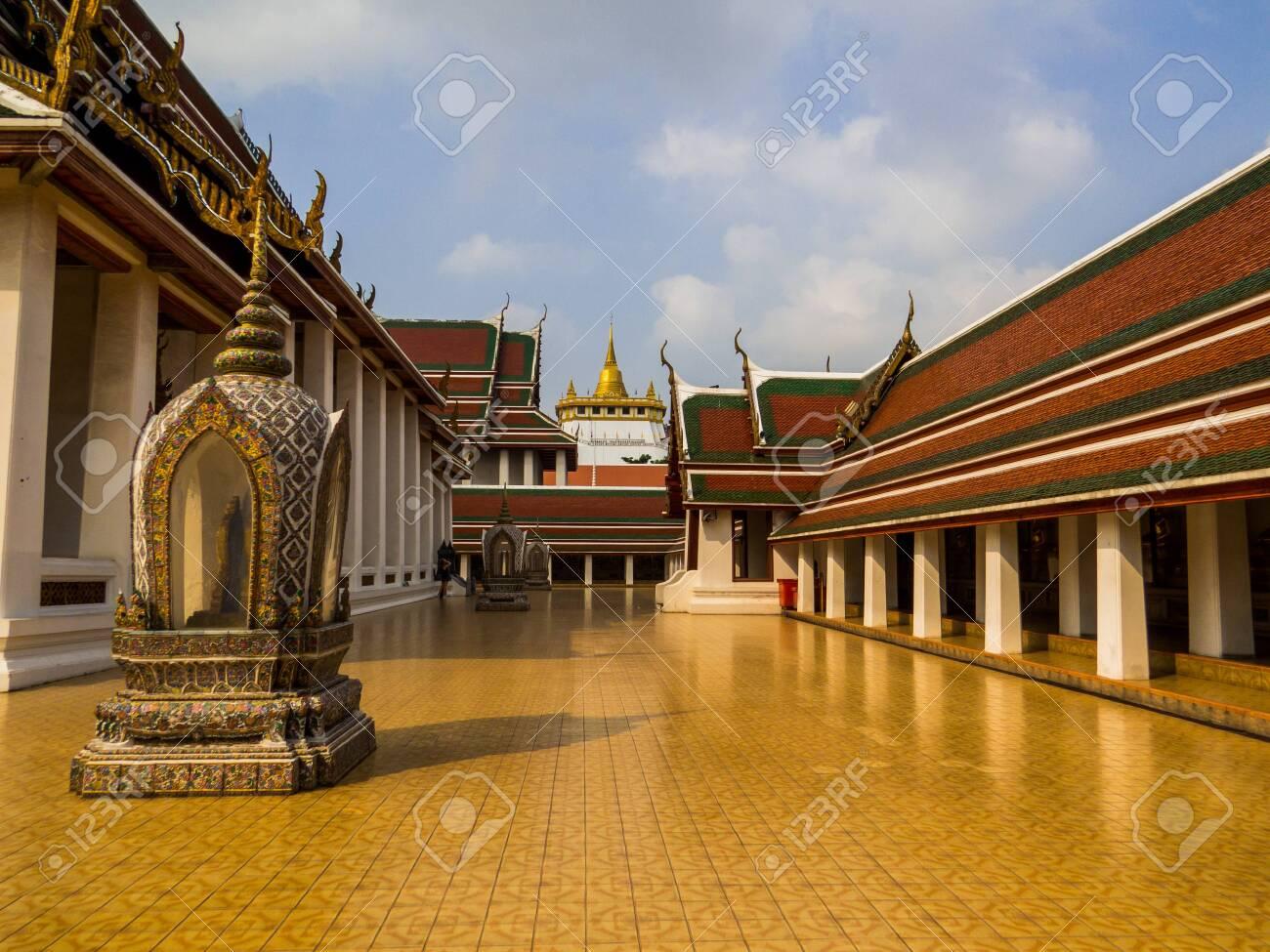 Bangkok, Thailand - January 16, 2020: View of the Wat Saket (or Golden Mount). - 151449105