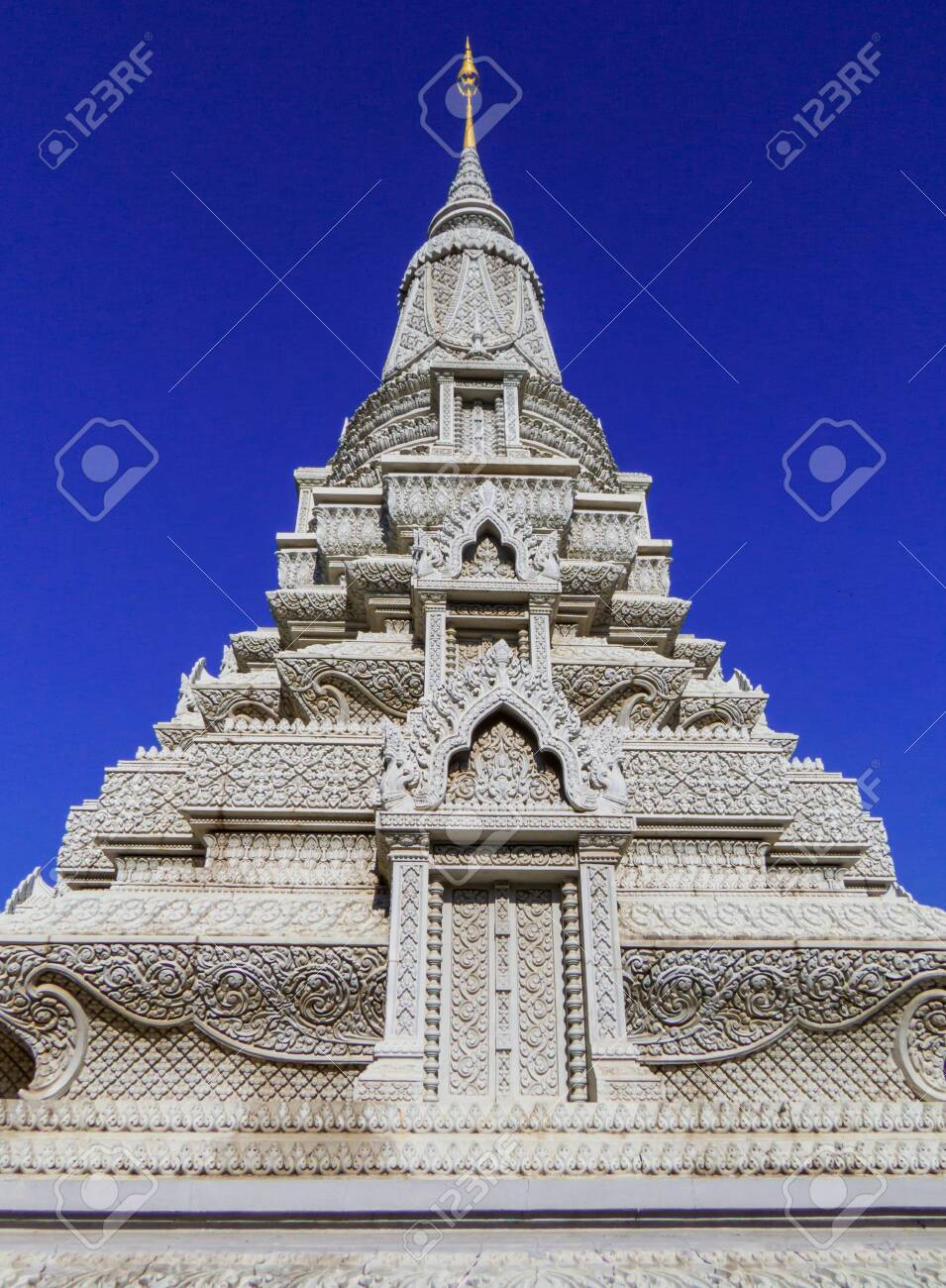 Phnom Penh, Cambodia - January 9, 2020: View of the Silver Pagoda. - 151449113