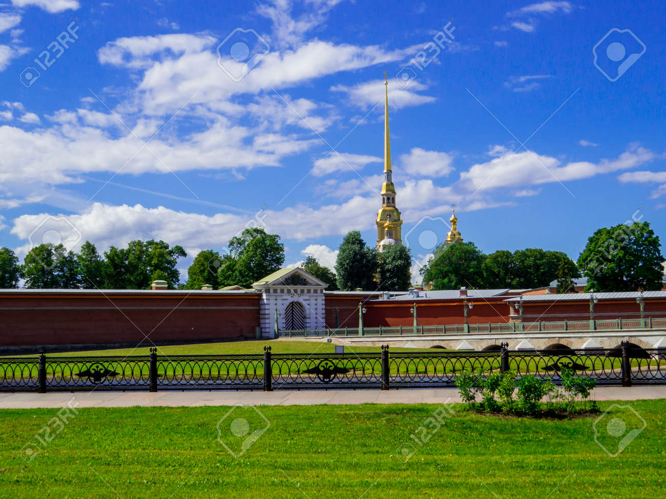 View of the Peter and Paul Fortress in St. Petersburg, Russia - 159692378