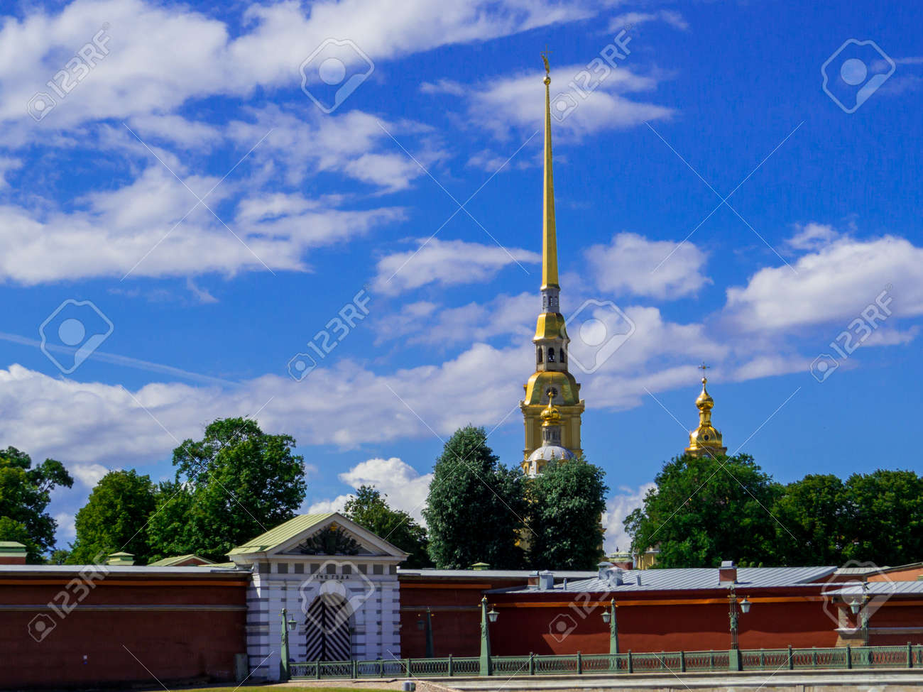 View of the Peter and Paul Fortress in St. Petersburg, Russia - 159692379