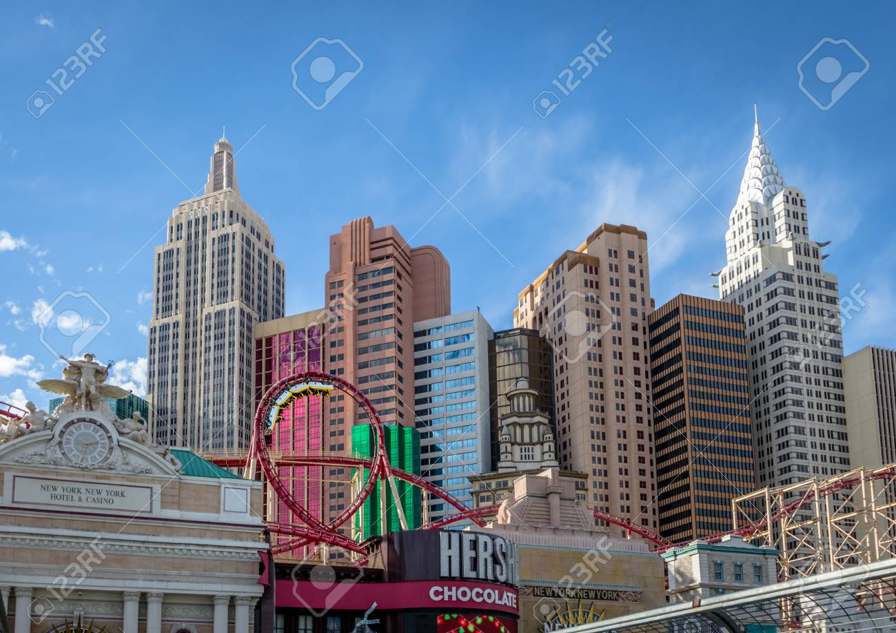 Roller Coaster At New York New York Hotel And Casino Las Vegas