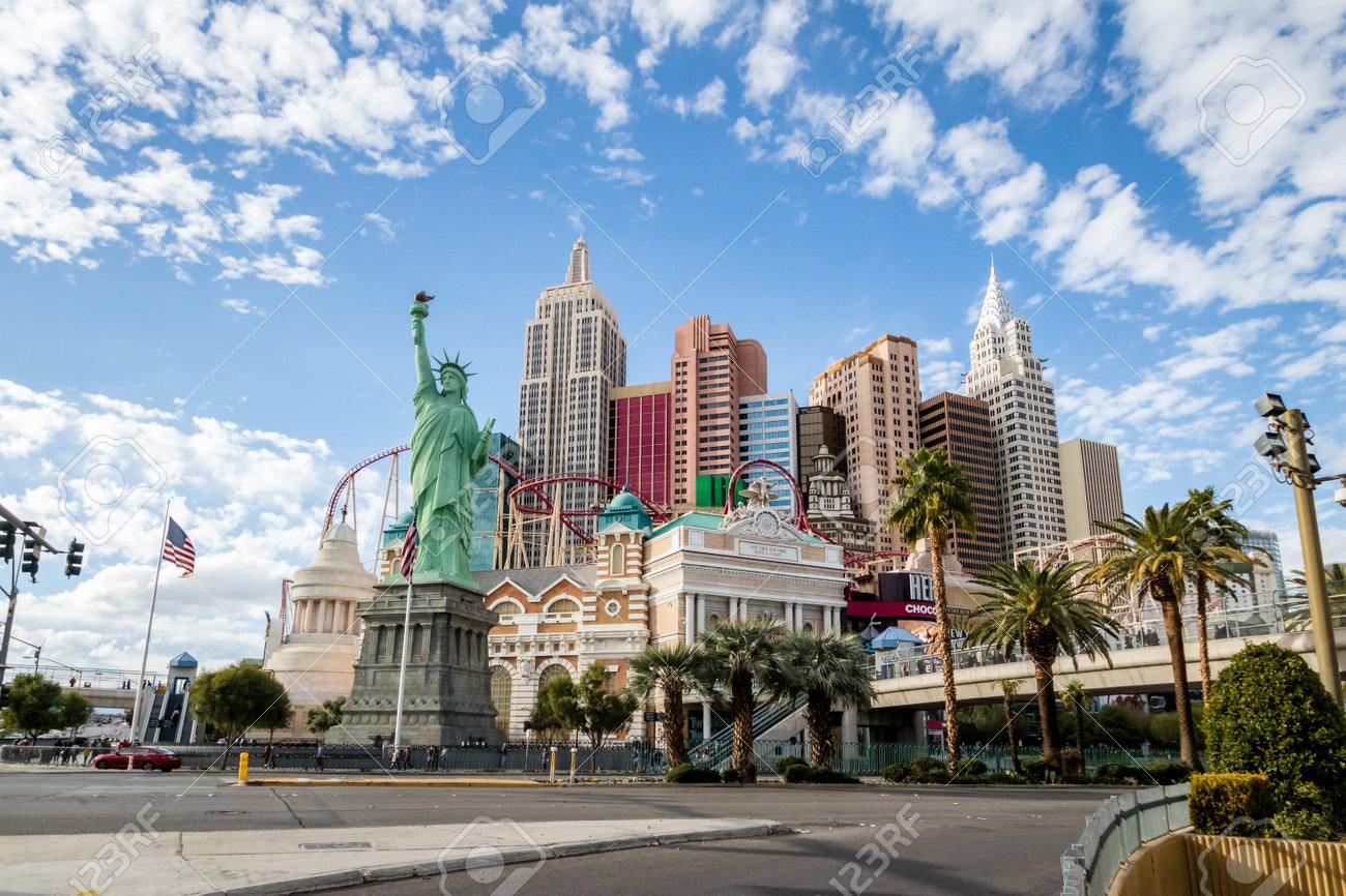 New York New York Hotel And Casino Las Vegas Nevada Usa Stock
