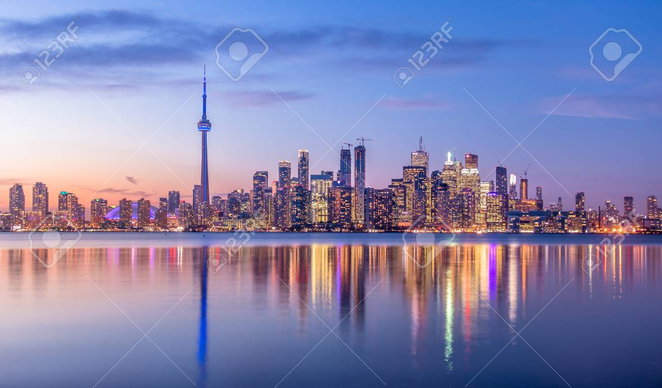 Toronto Skyline With Purple Light - Toronto 6cc84b07d7a