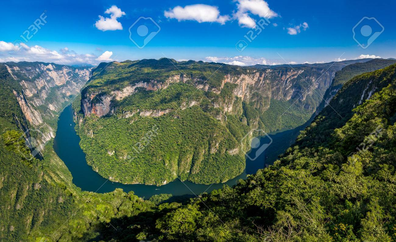 パノラマ全景スミデロ渓谷渓谷 - チアパス州, メキシコ の写真素材 ...