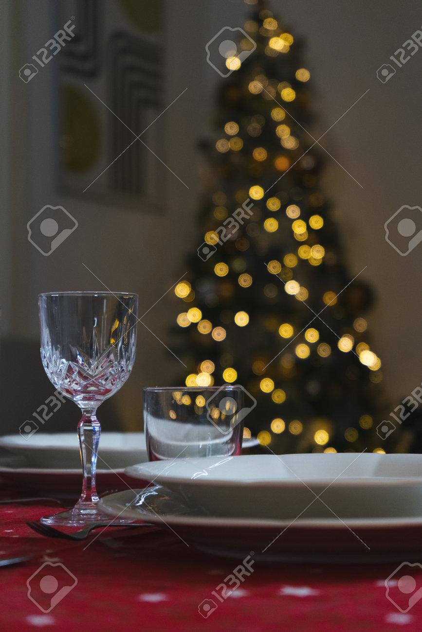 Wine glass elegant dining set for christmas dinner - 160265097