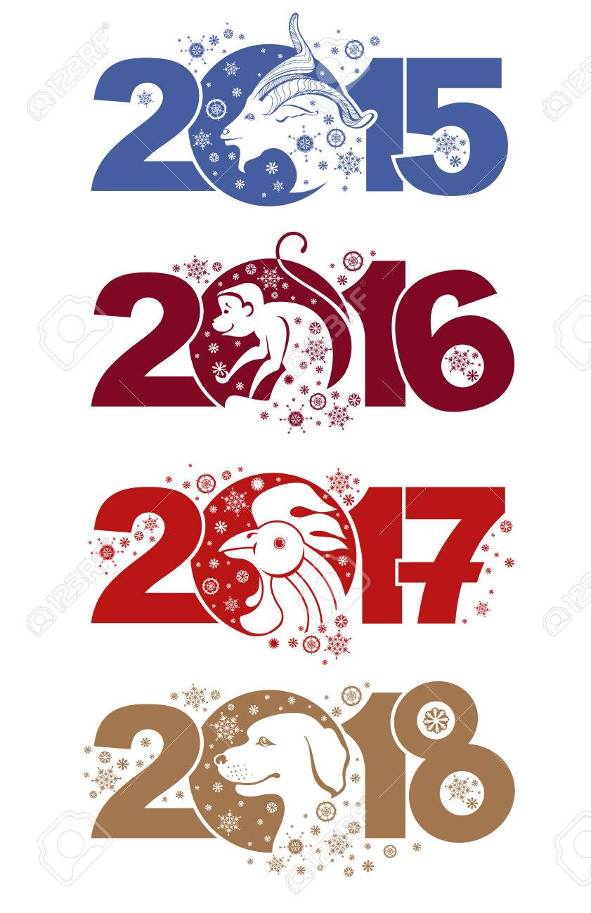 Goat 2015 monkey 2016 rooster 2017 dog 2018 symbols of the goat 2015 monkey 2016 rooster 2017 dog 2018 symbols of the years buycottarizona Gallery