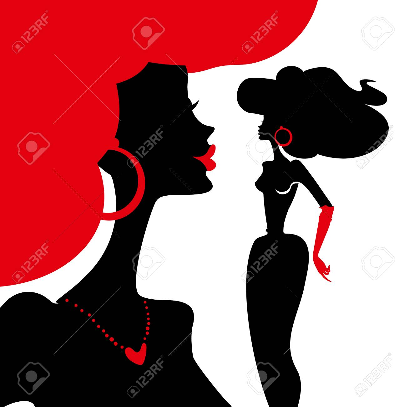 Women Silhouettes Vector Illustration Royalty Free Cliparts