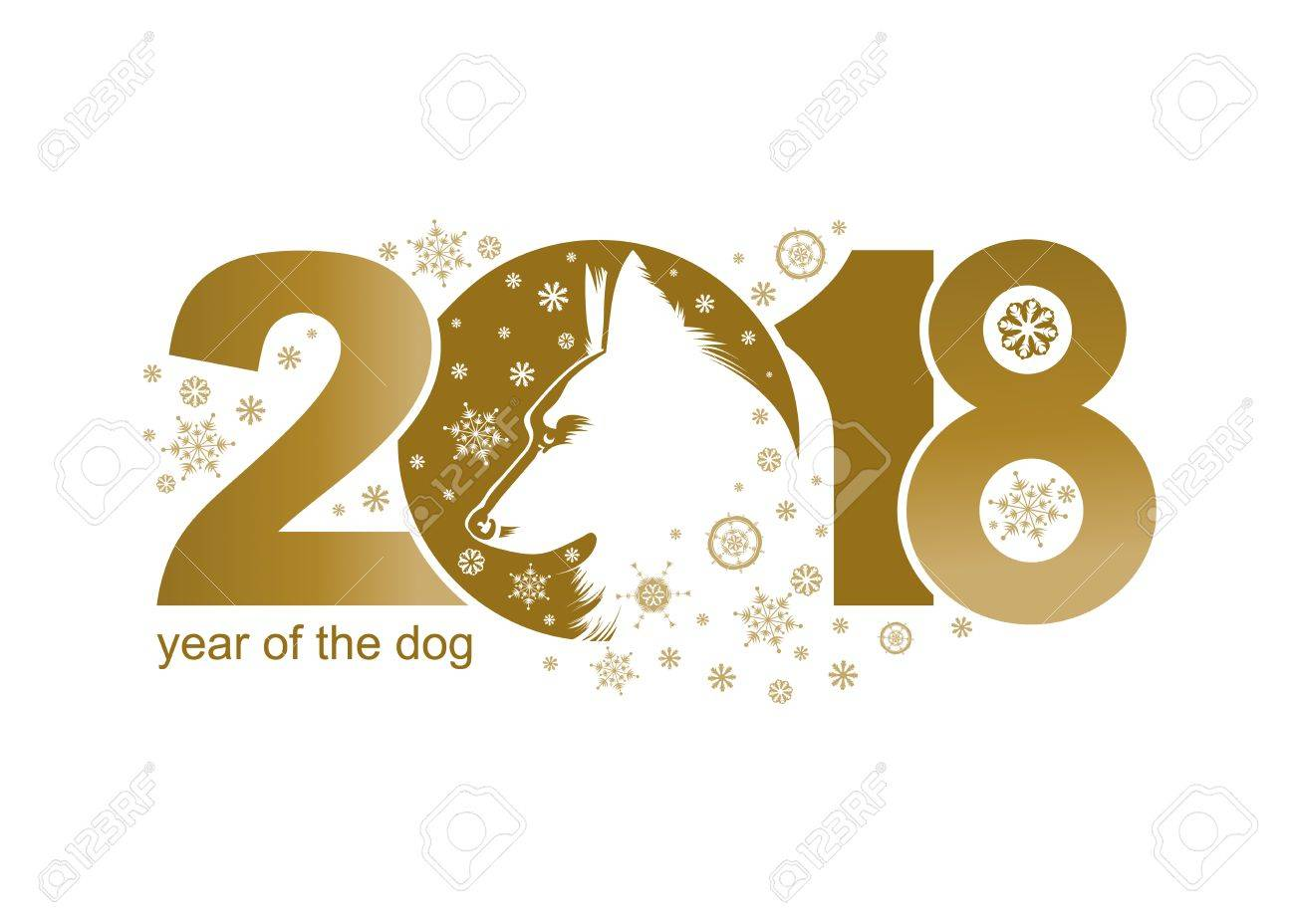 vector year of the dog 2018 vector template new years design on the chinese calendar