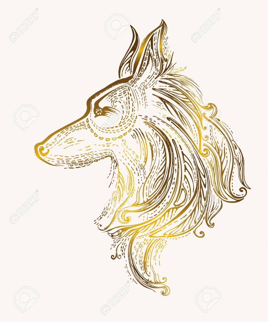Pattern Dog  Chinese New Year 2018  Zodiac Dog  Vector design