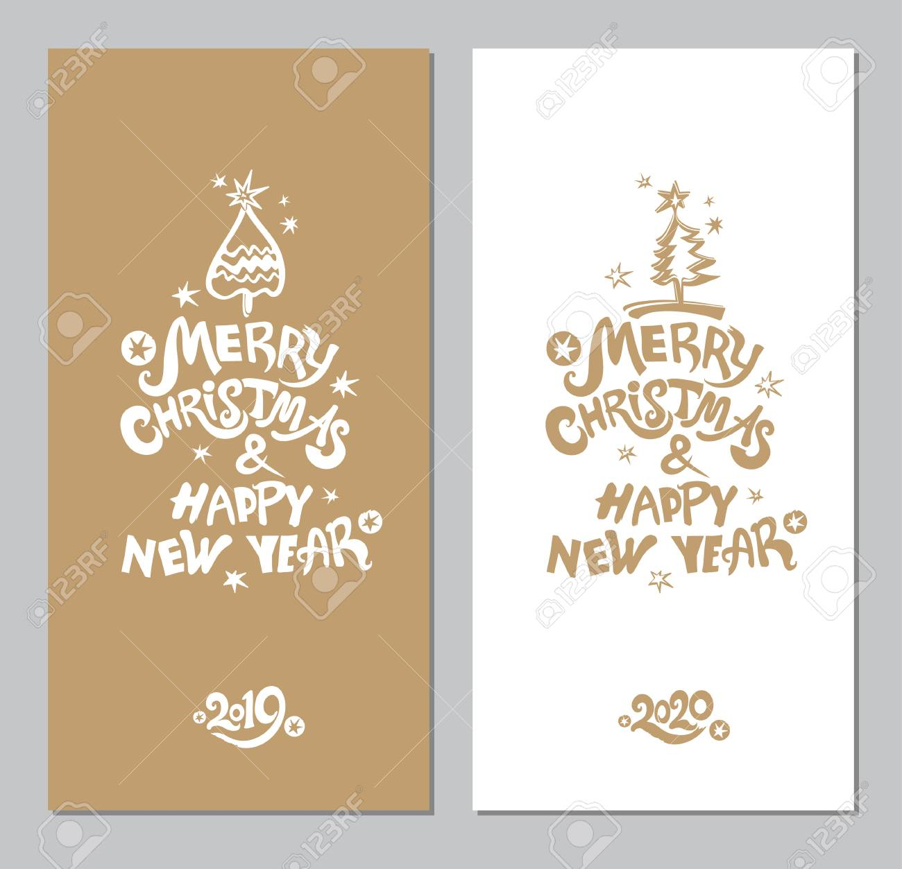 New Christmas Music 2020 Merry Christmas & Happy New Year! Xmas Tree And Snow. Vector
