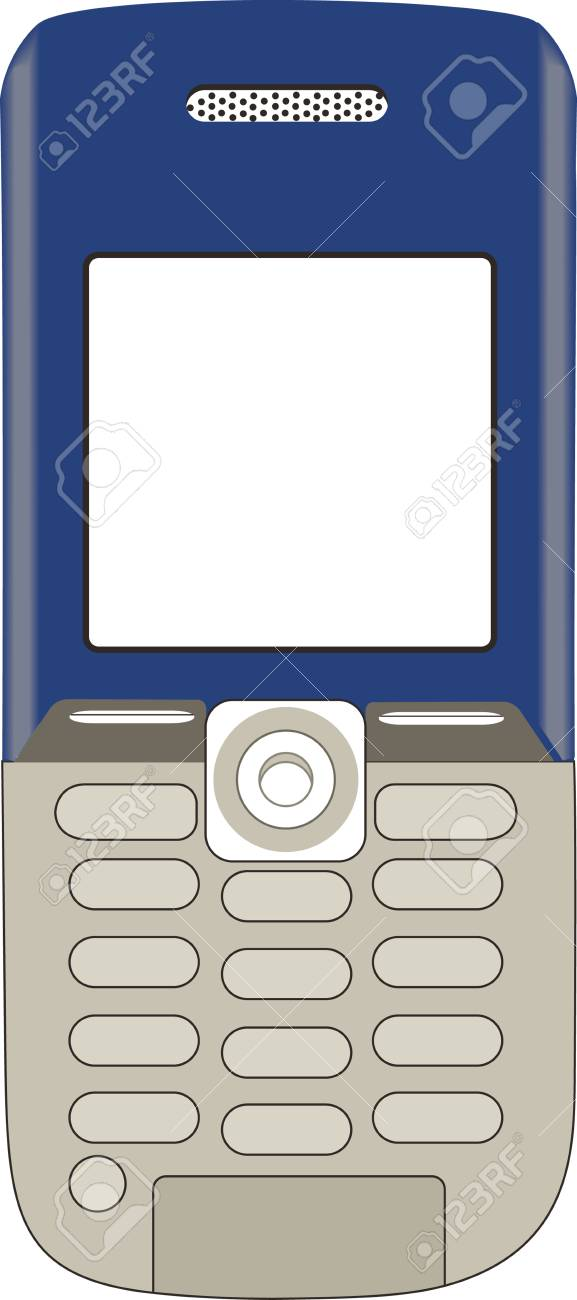 Illustration of a phone on a white background Stock Vector - 5363414