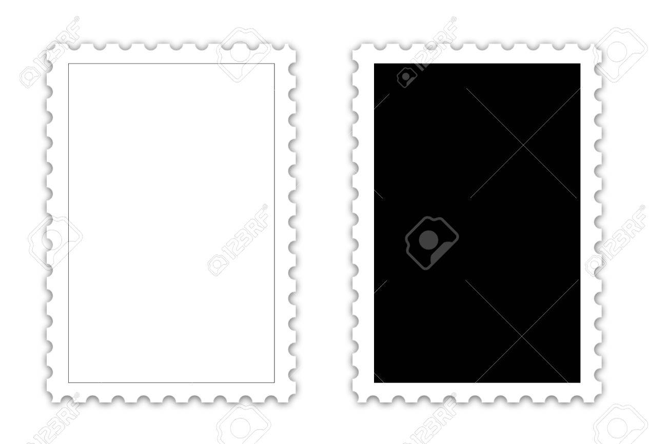postage stamp template on white background stock photo picture and