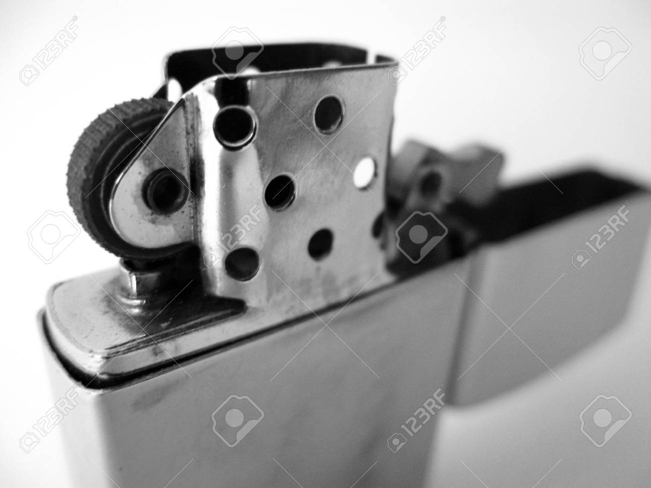close-up of lighter on white background Stock Photo - 13457108