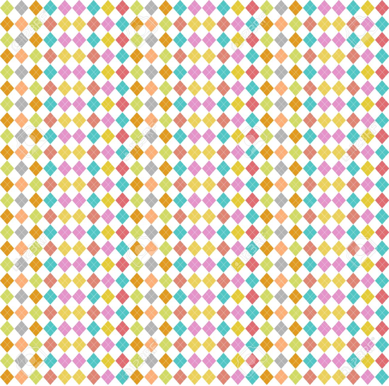 Seamless pattern with color rhombus Stock Photo - 17092181