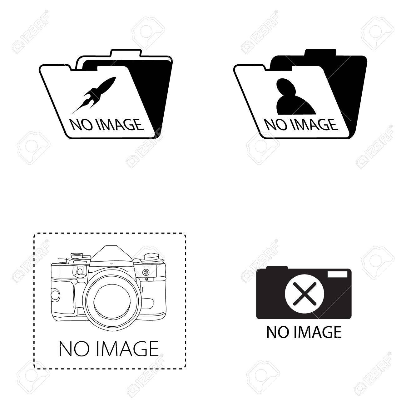 no image  icon set on white background Stock Photo - 17092179