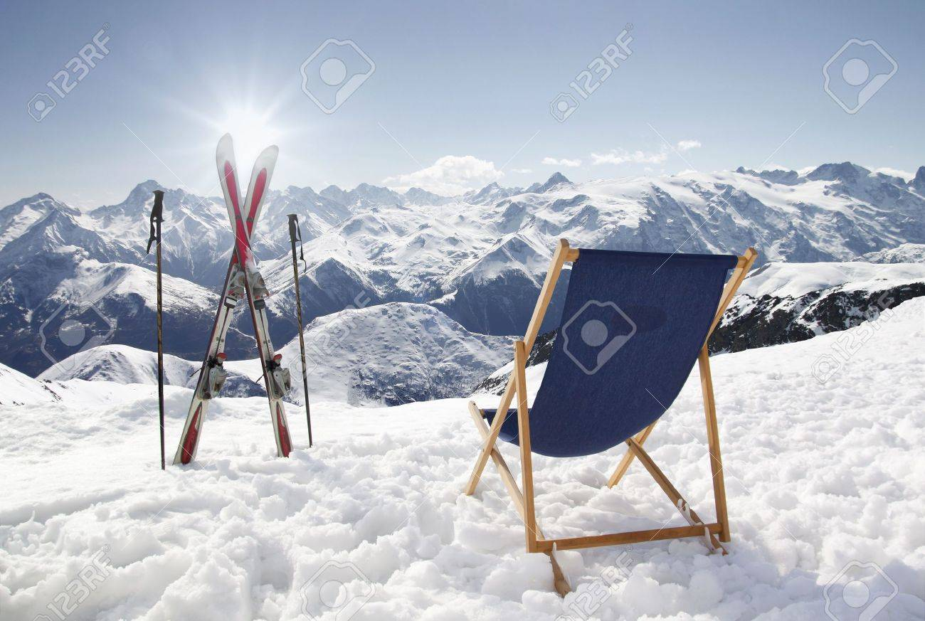 зима лыжи