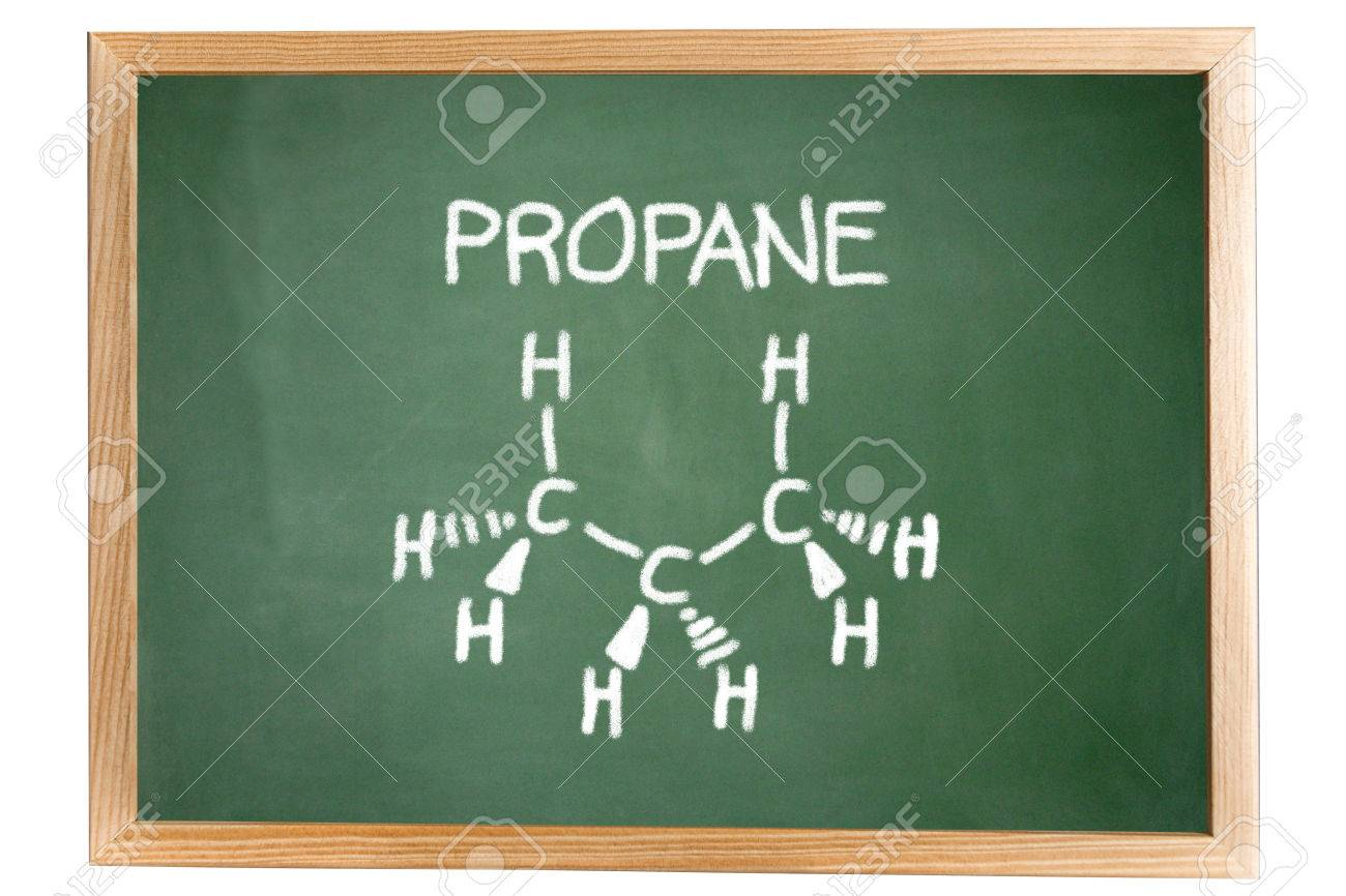 Chemical Formula Of Propane On A Blackboard Stock Photo Picture And