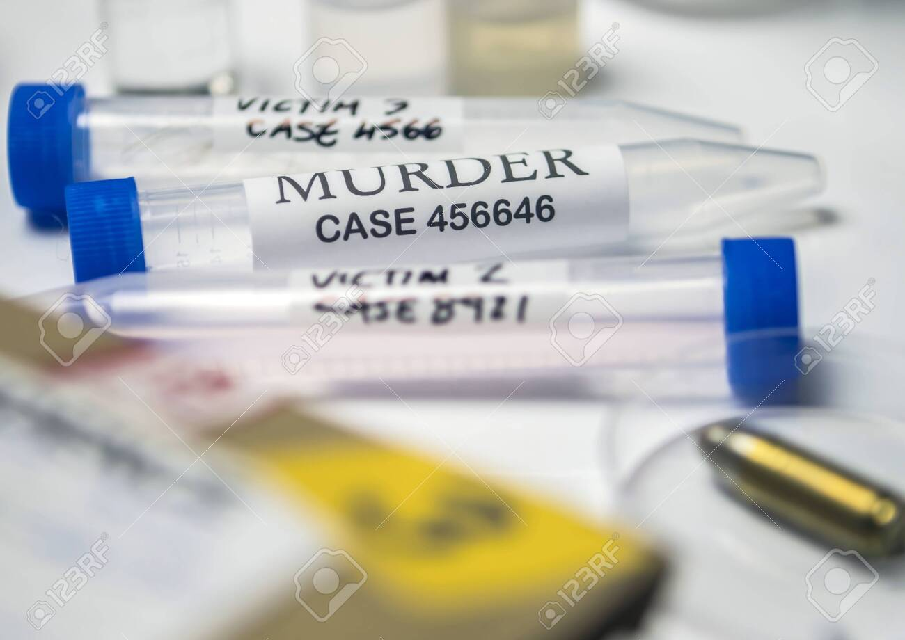 Some Forensic Evidence Of Murder At Laboratory Forensic Equipment Stock Photo Picture And Royalty Free Image Image 151317429