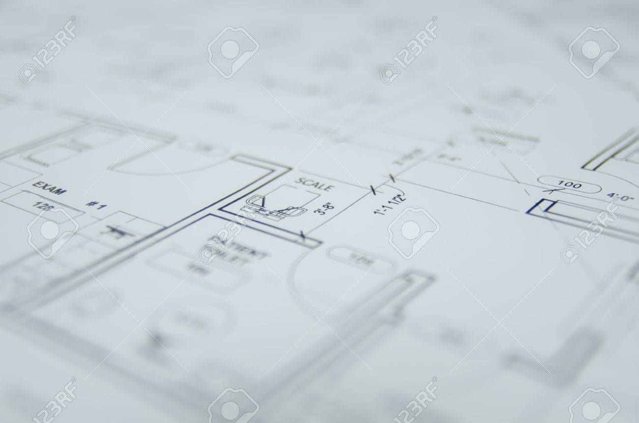 Architectural Drawing Background Stock Photo Picture And Royalty