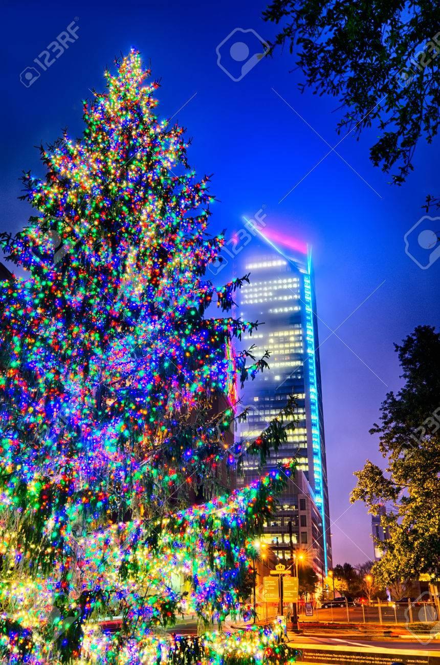 Christmas Tree Near Panther Stadium In Charlotte North Carolina ...