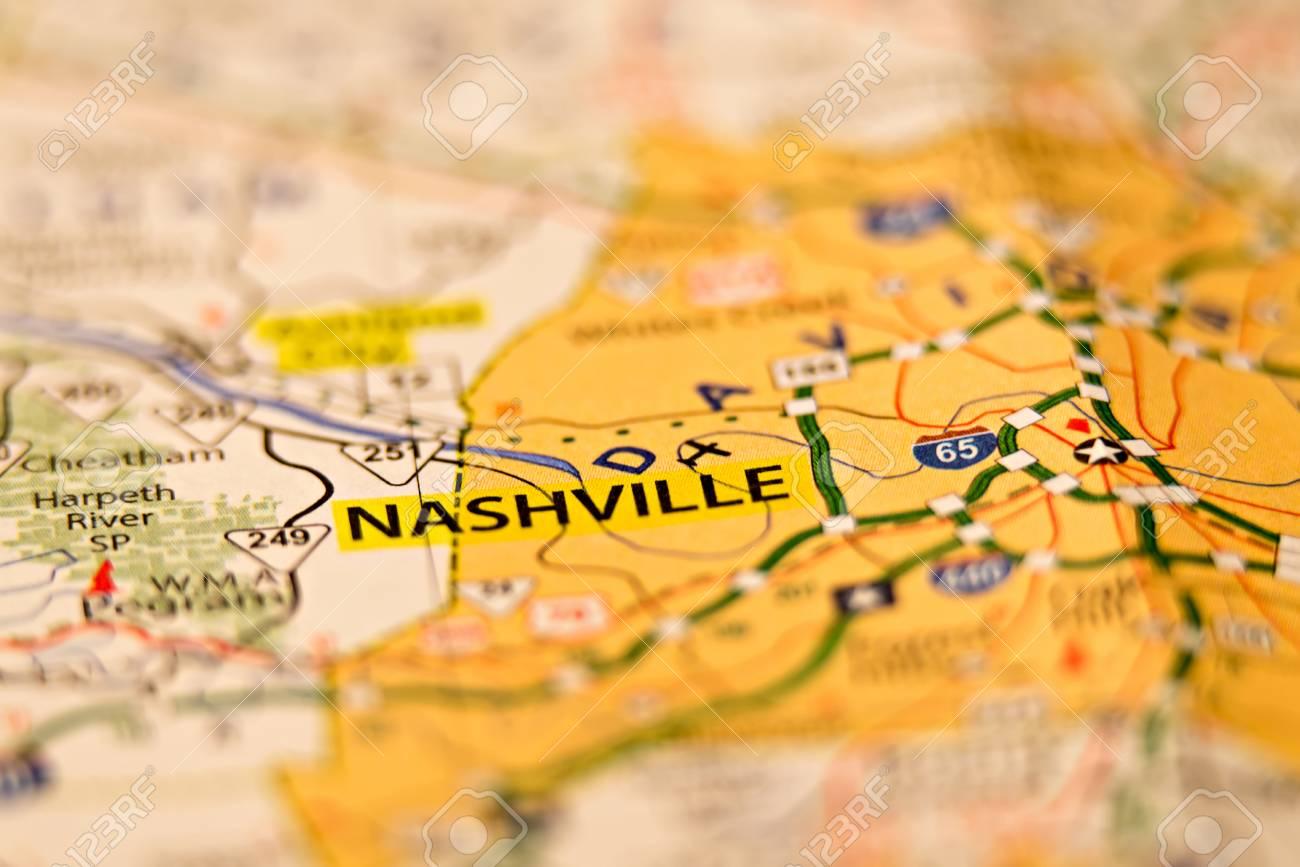 nashville tn area map photo
