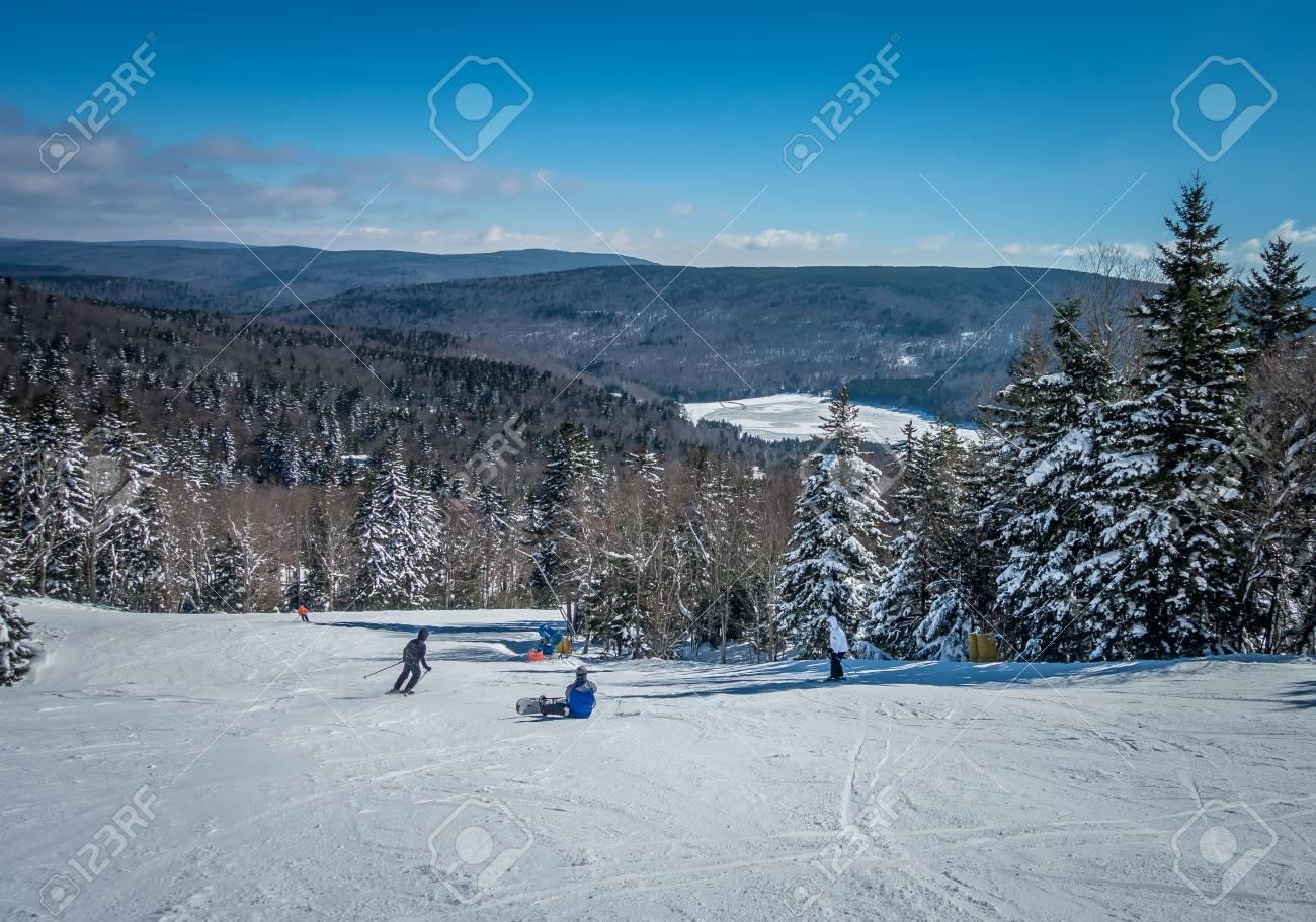 beautiful nature and scenery around snowshoe ski resort in cass