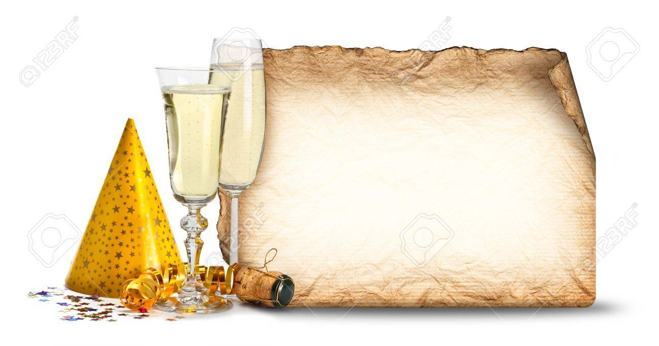 Party invitation - glasses of champagne Stock Photo - 10472060