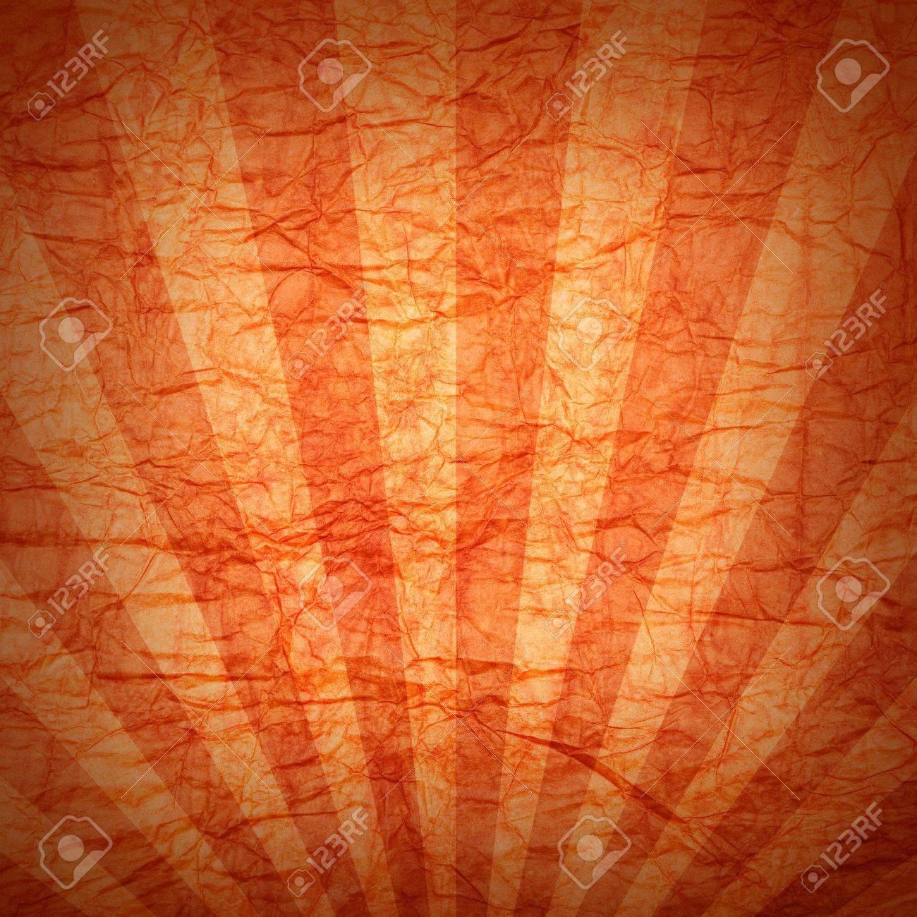 Orange background - crumpled paper Stock Photo - 10472158