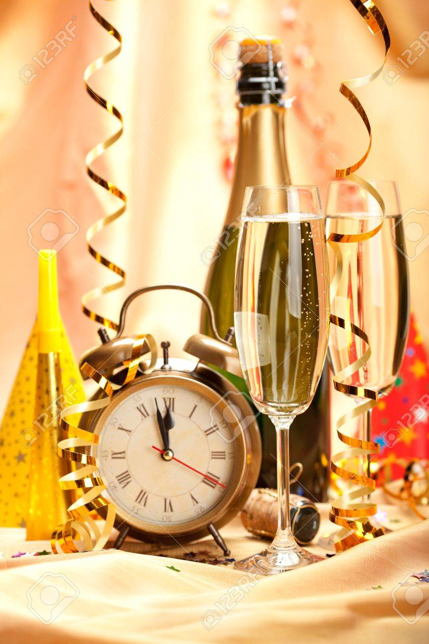 Happy new year - party decoration Stock Photo - 10570643