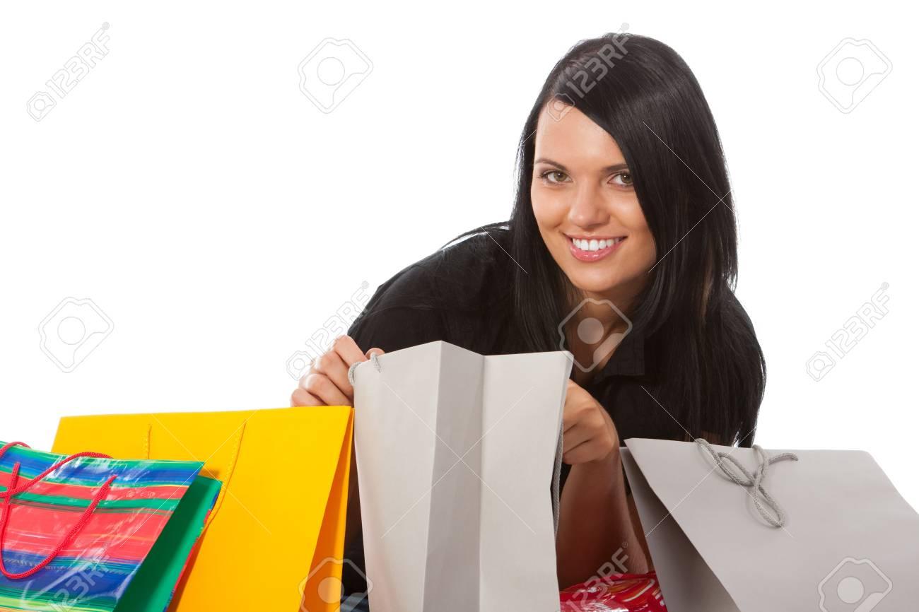 Shopping - Young woman Stock Photo - 10582639