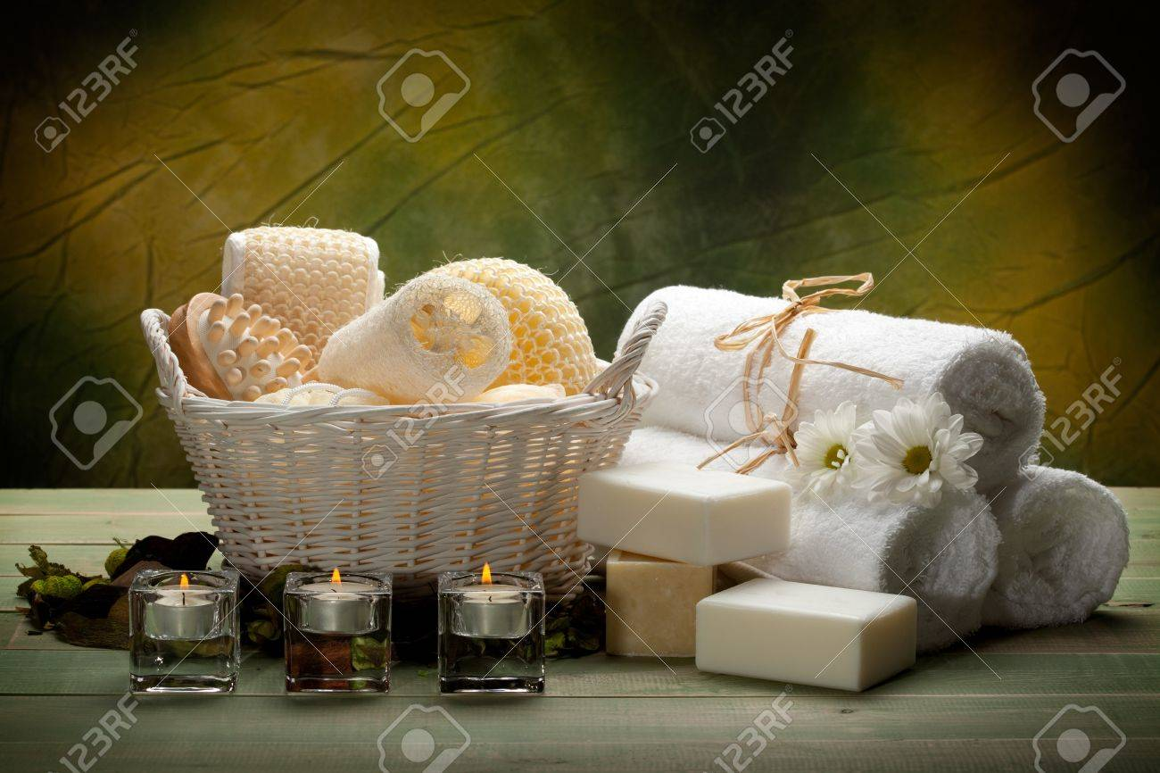 Spa - towels, soap, candles and massage tools Stock Photo - 10582734