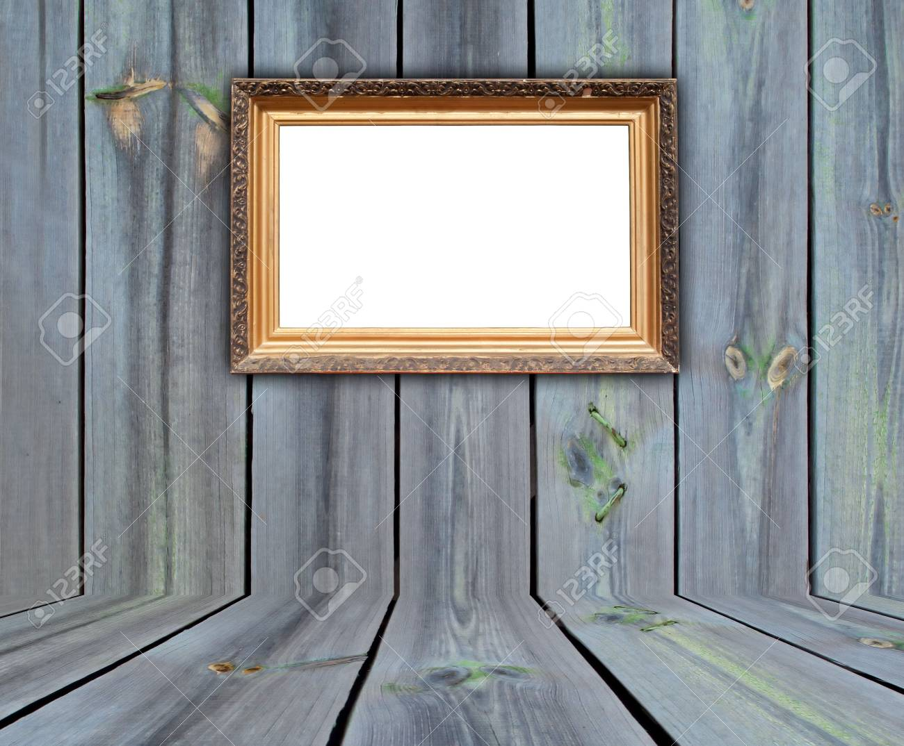 Vintage Frame in Wooden Room Stock Photo - 6702096