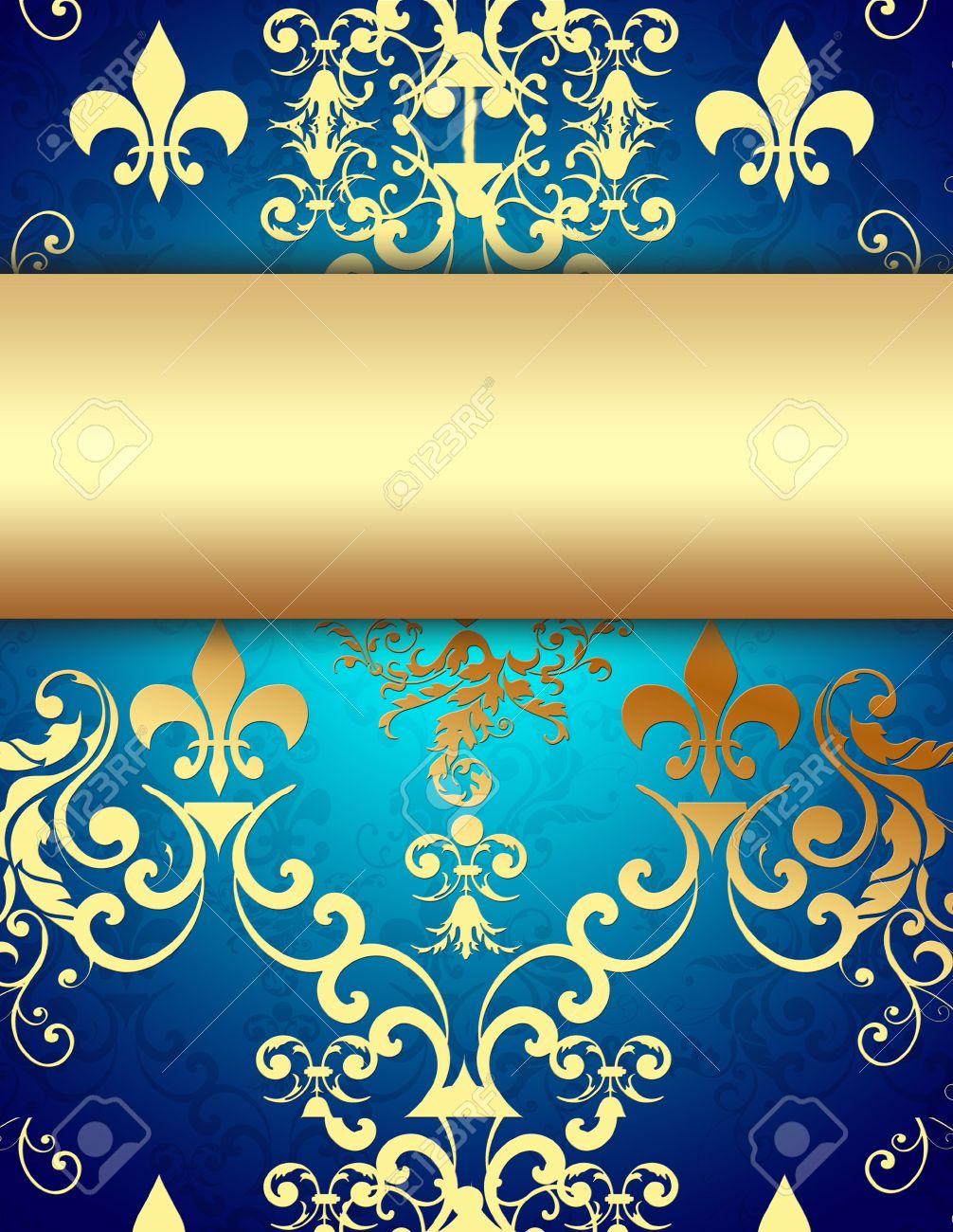 Elegant Golden Blue Background Stock Photo - 6917478