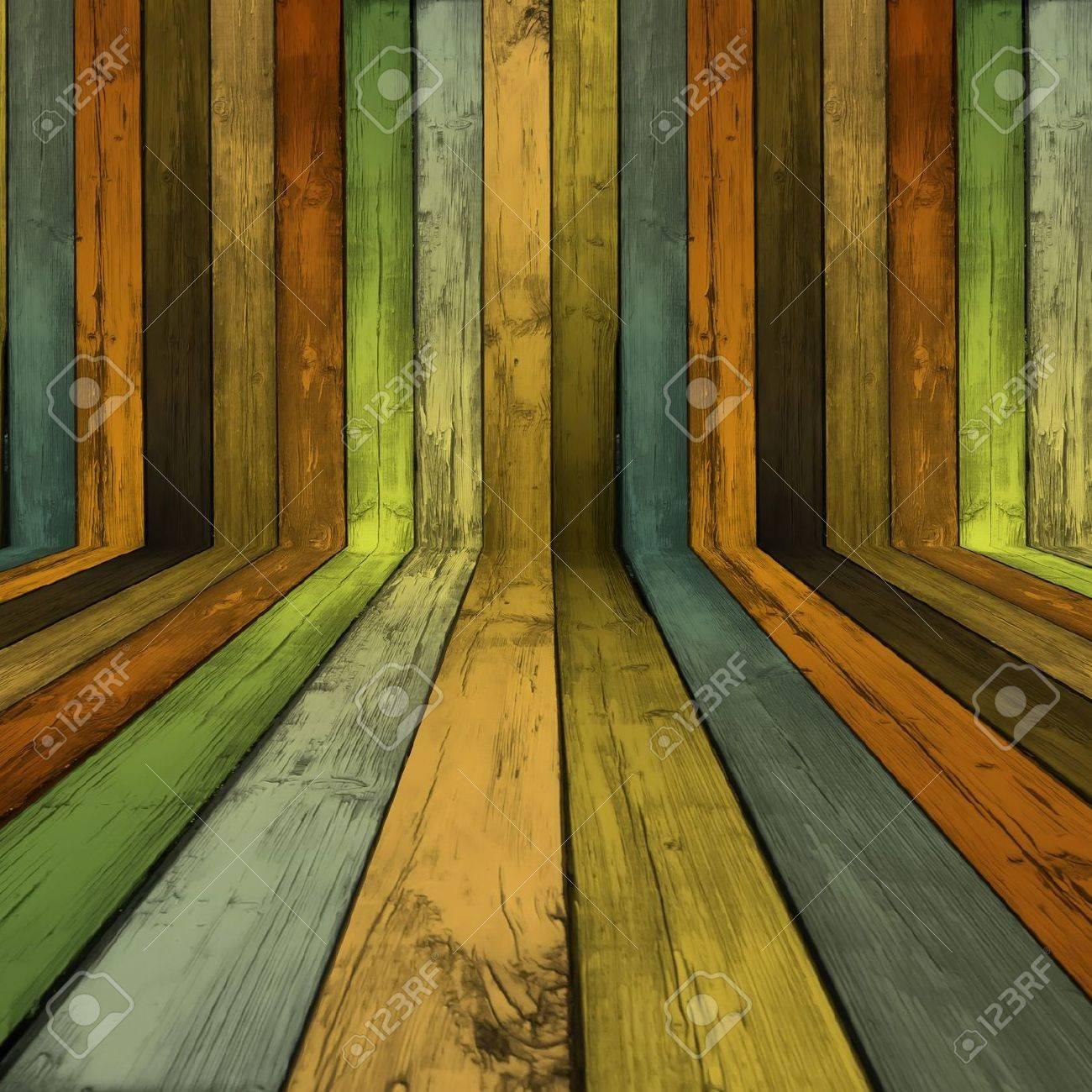 Empty Wooden Room Stock Photo - 7057356