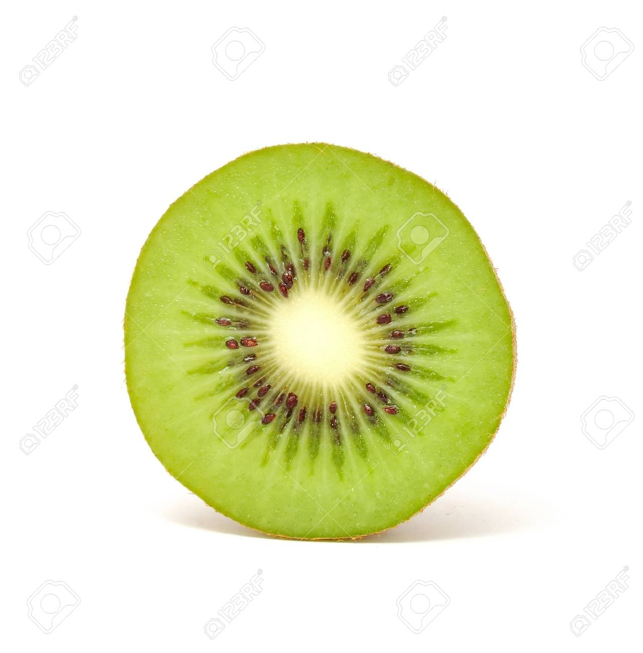 Slice of Kiwi Isolated on White Background Stock Photo - 8067370