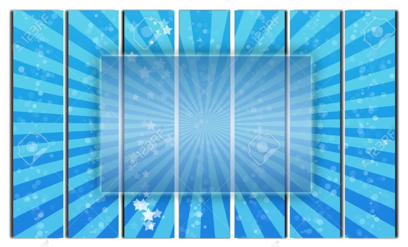 Immagini Stock Cornice Trasparente Bianco Su Sfondo Blu Image 9006456