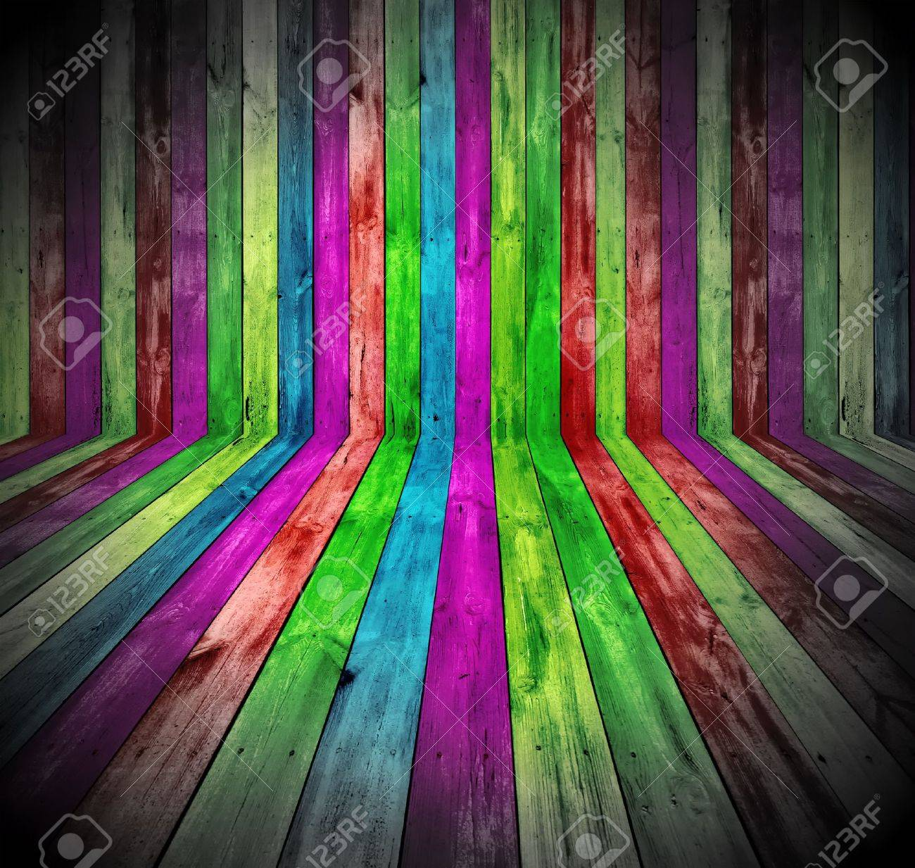 Vibrant Wooden Room Stock Photo - 9133062