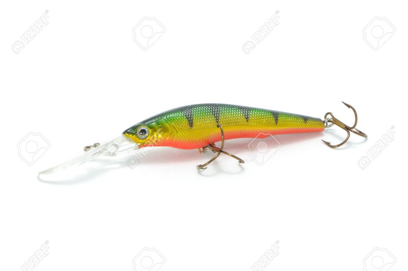 Fishing Lure (Wobbler) Isolated on White Background Stock Photo - 9311034