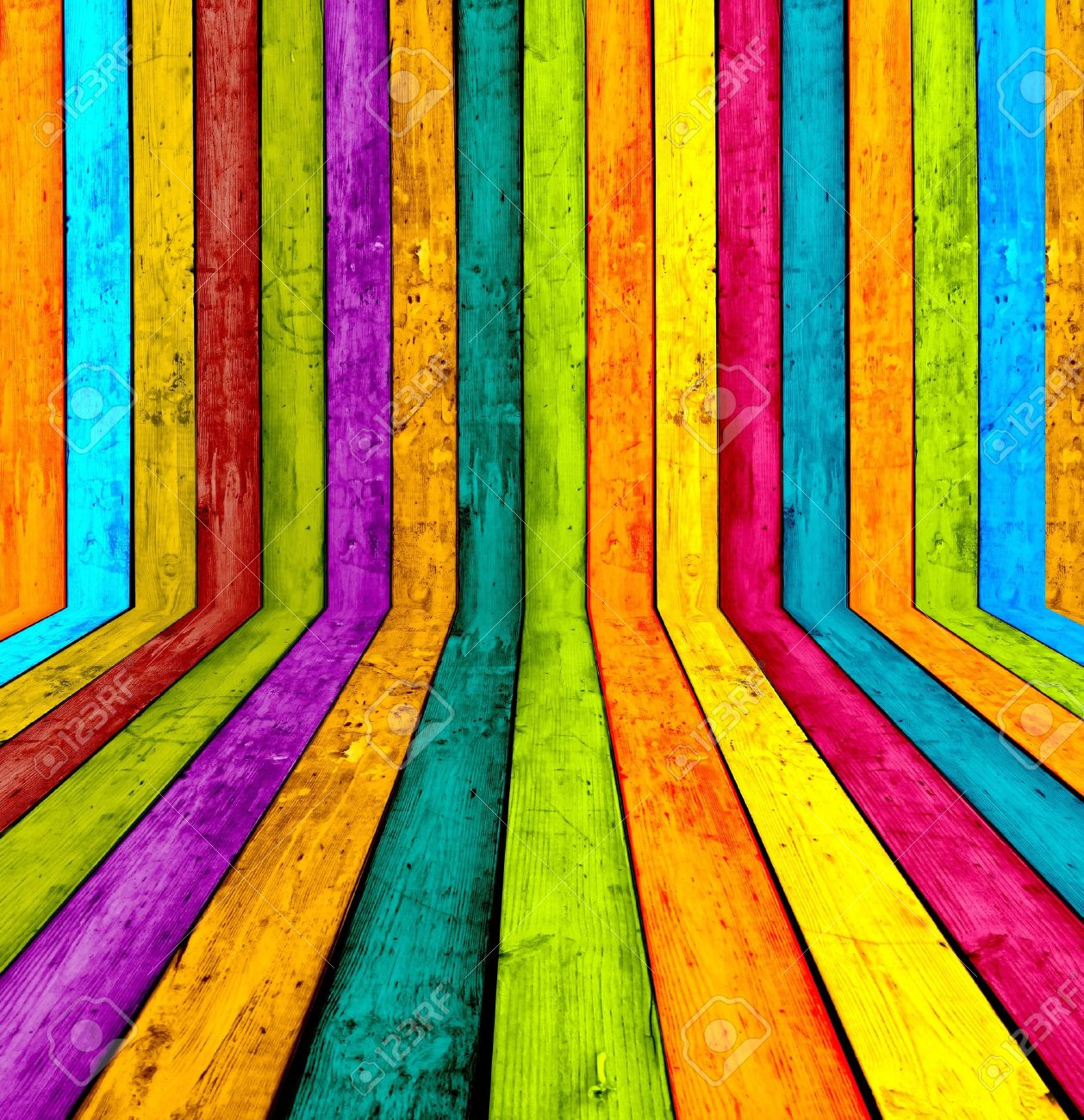 000127852704 Multicolored Wooden Room Stock Photo - 9572037