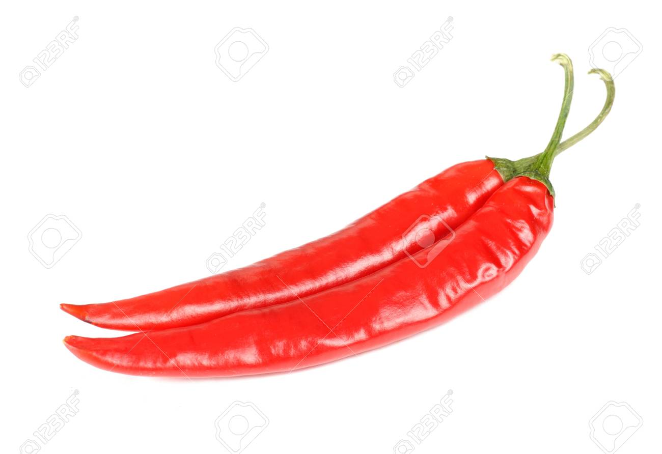 Red Hot Chili Peppers Isolated on White Background Stock Photo - 11262549