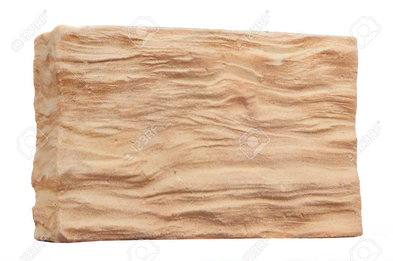 Decorative Wall Facing Plaster Panel Isolated on White Background Stock Photo - 13823713
