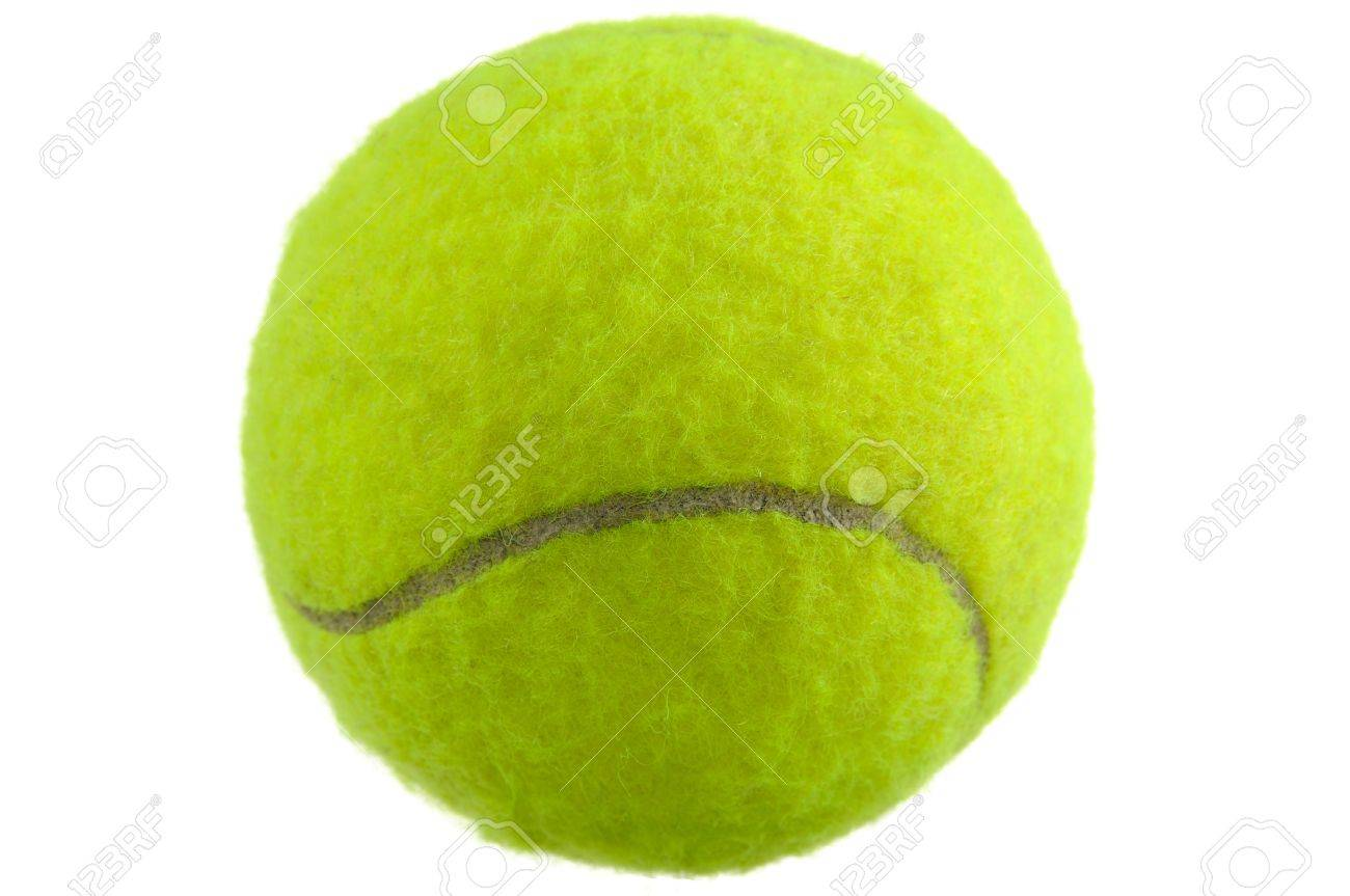 Tennis Ball Isolated on White Background Stock Photo - 14606804