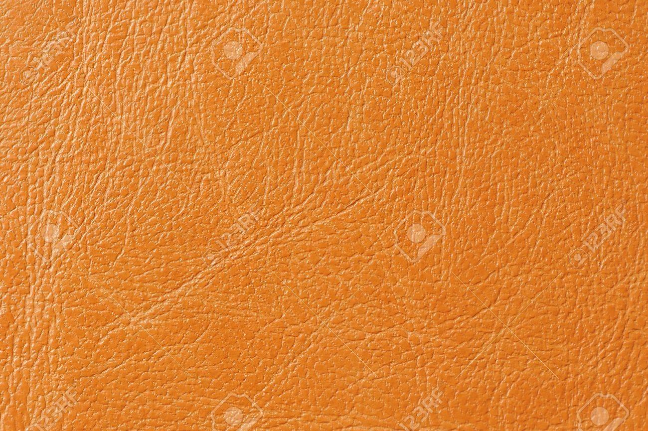 Orange Faux Leather Background Texture Stock Photo - 17281597