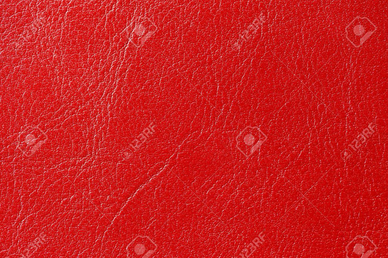 Red Glossy Artificial Leather Texture Stock Photo - 17357215