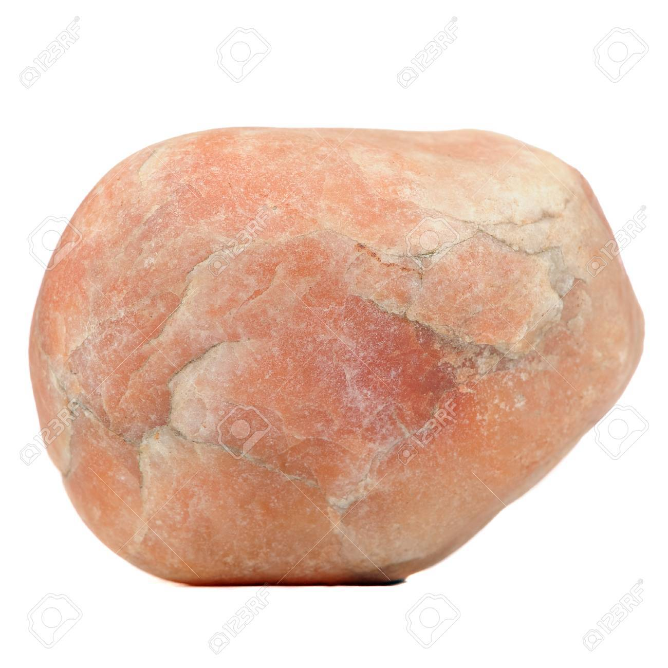 Red Granite Stone Isolated on White Background Stock Photo - 21602266