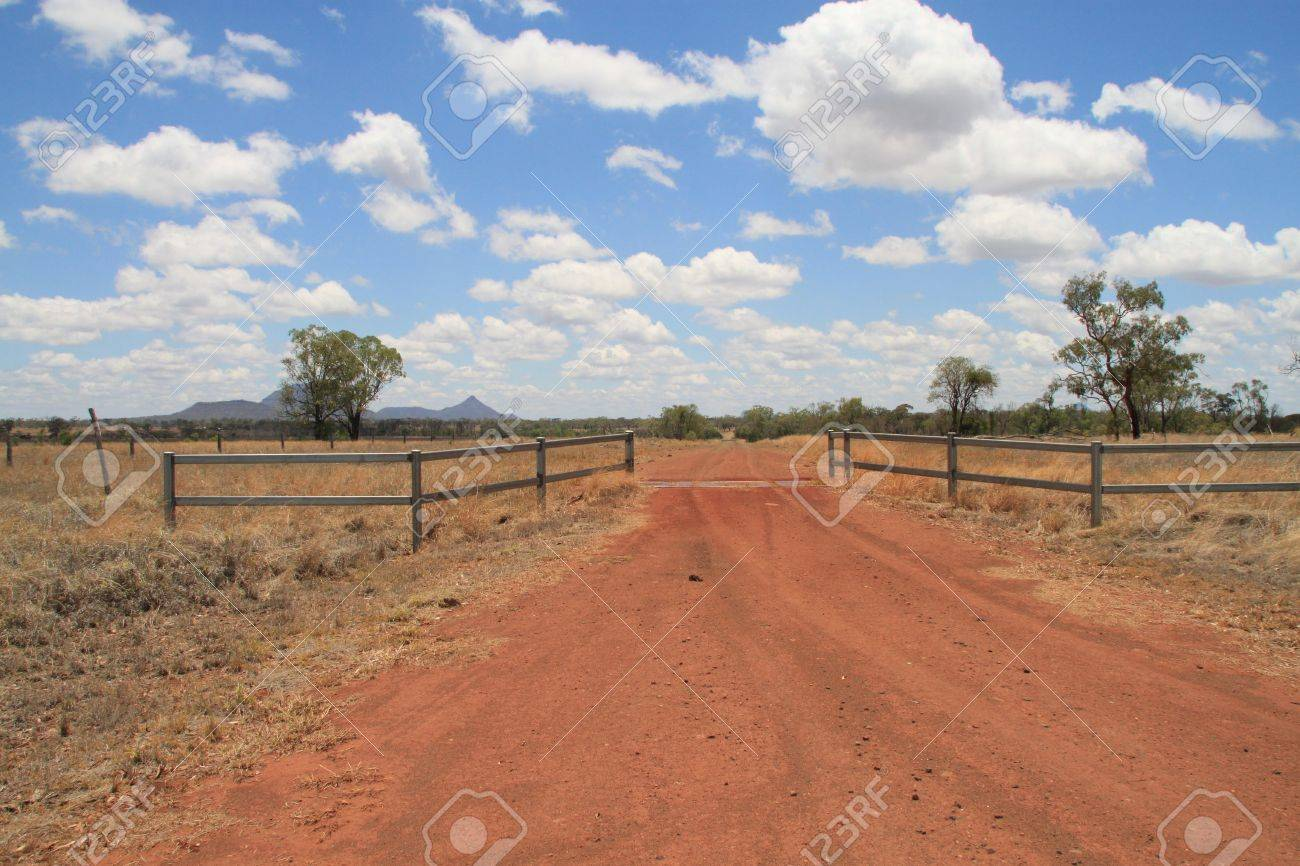 red dirt road Stock Photo - 11450540
