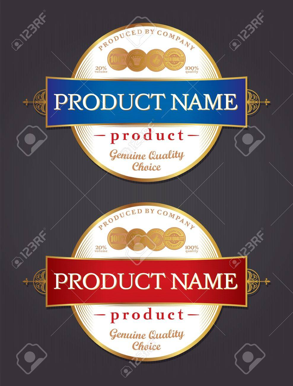 Product Label Design Template Retro Style Stock Vector   17286463