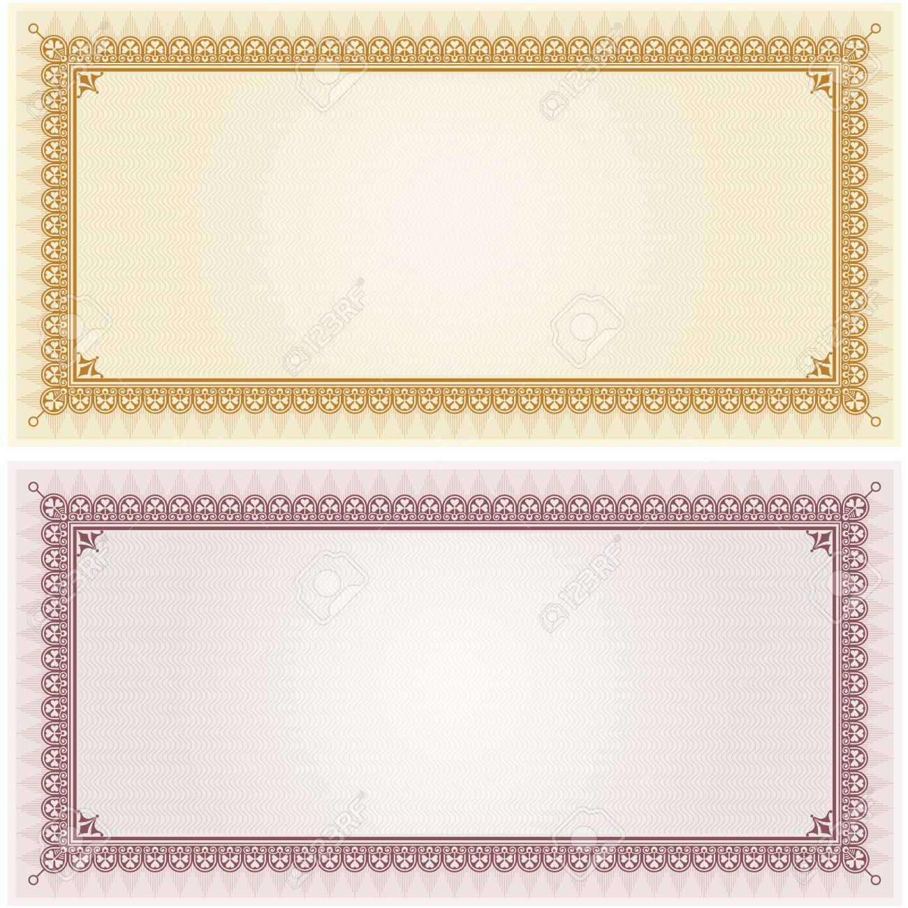 word certificate borders